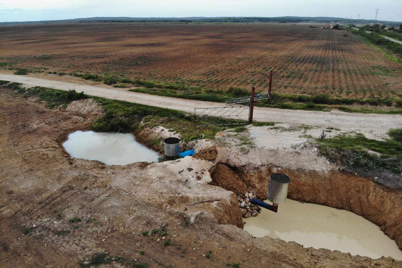 Glifosato contamina pozos de agua