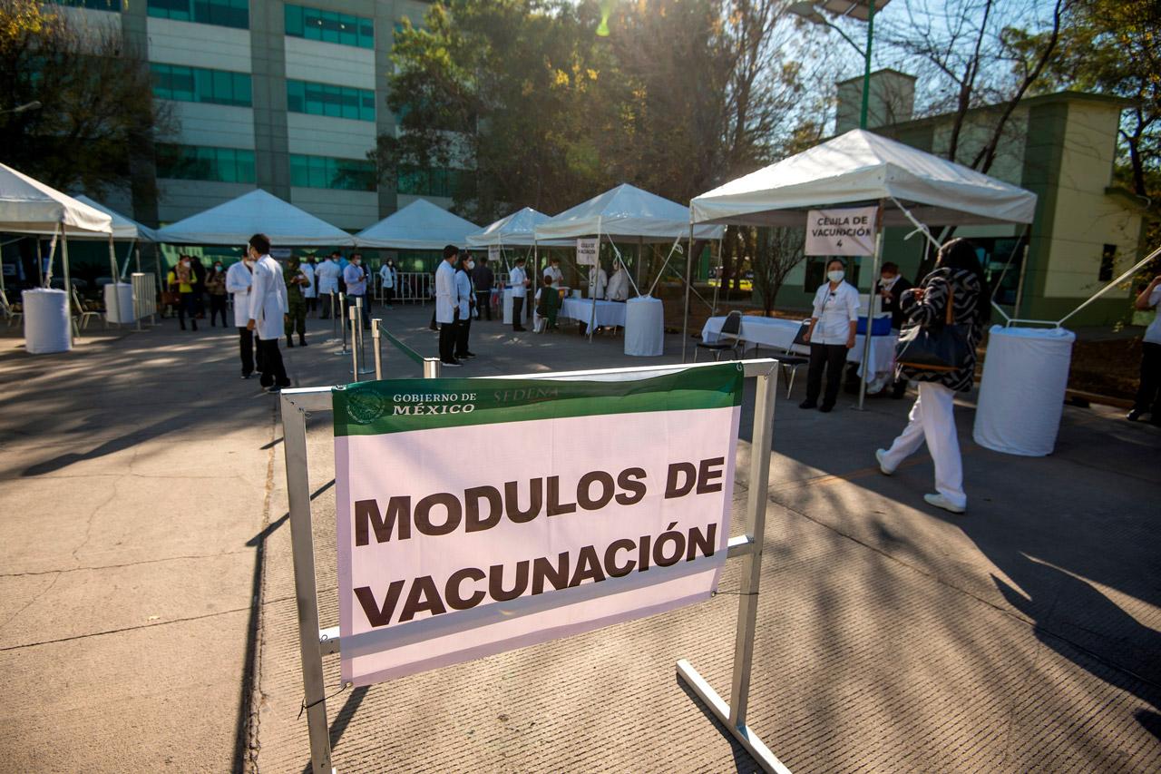 Modulo vacunación, dos semanas de vacunación con poco orden, vacuna mexico