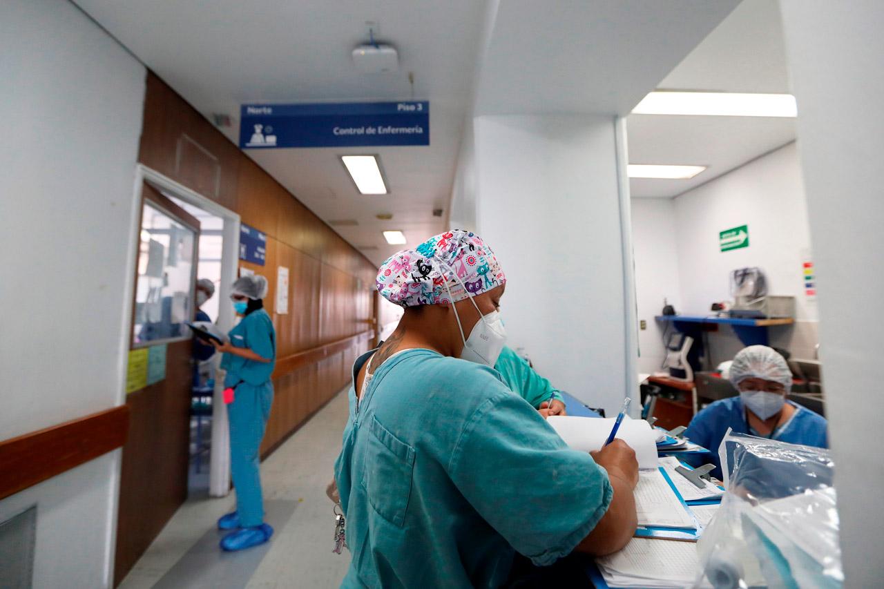 Coronavirus hospital México Codigo azul, personal medico