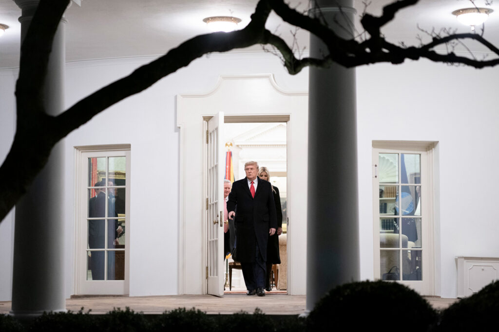 Trump 'desea lo mejor' a la administración que lo releva en la Casa Blanca