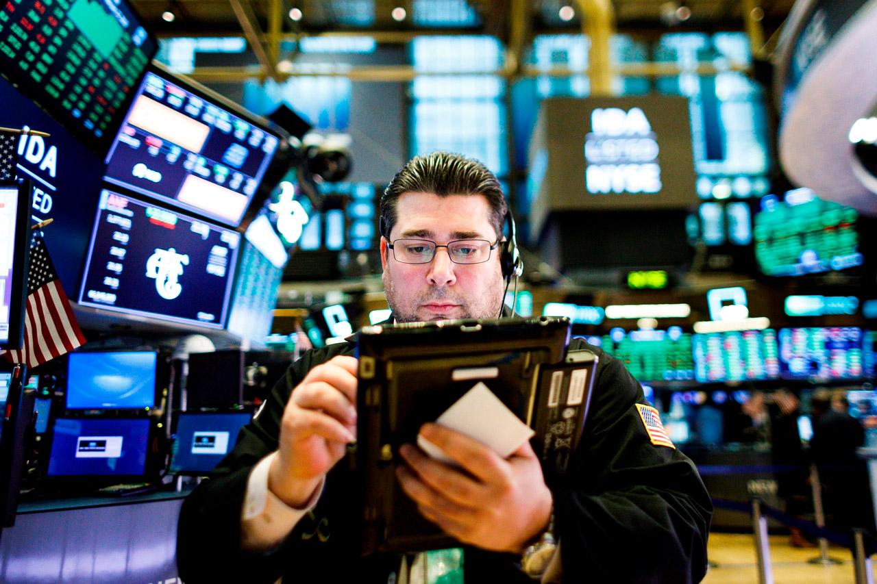 Wall Street, bola de valores, finanzas