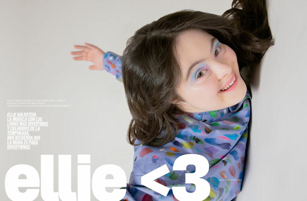 Ellie Goldstein en ELLE: ¿atisbos de un adiós a los prejuicios en la industria de la moda?