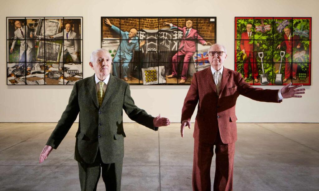 Gilbert y George sobre sus obras de arte de Covid: 'Este es un momento súper triste'