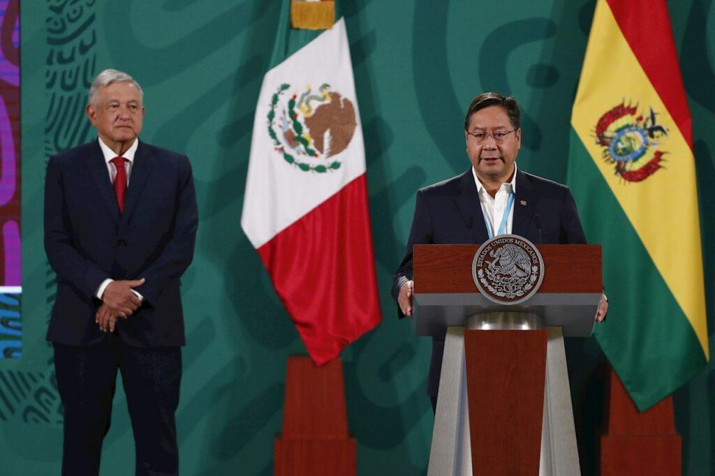 El presidente de Bolivia se reúne con AMLO en Palacio Nacional