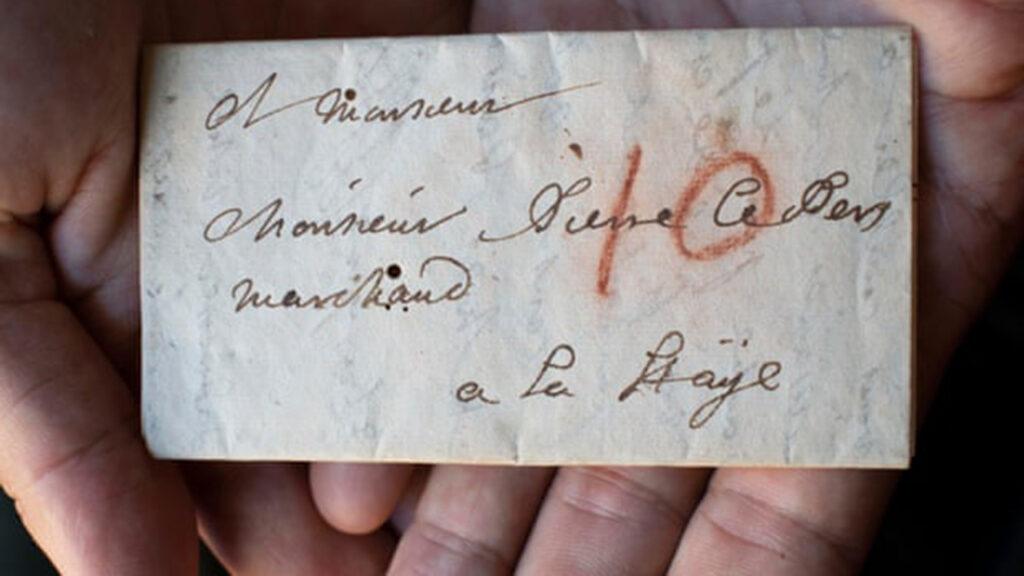 Una carta sin abrir revela sus secretos del siglo XVII