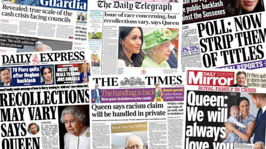 'Los recuerdos pueden variar': cómo cubrió la prensa la respuesta de la Reina a la entrevista de Meghan