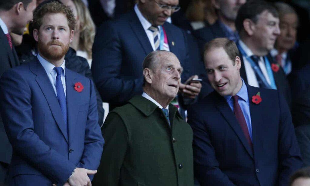Guillermo y Harry marcharán por separado y la Reina se sentará sola en el funeral de Felipe