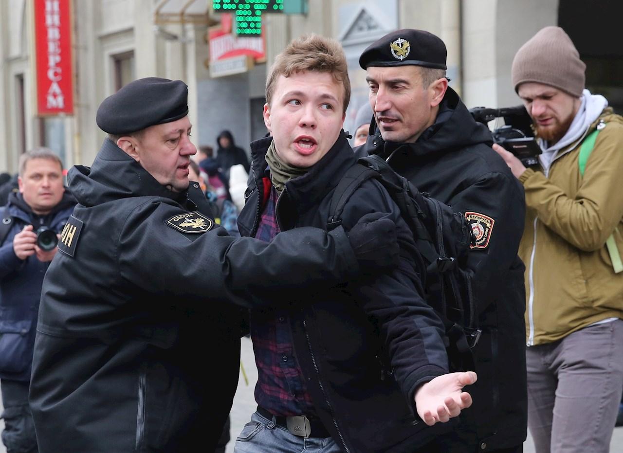 Foto de Román Protasevich detenido