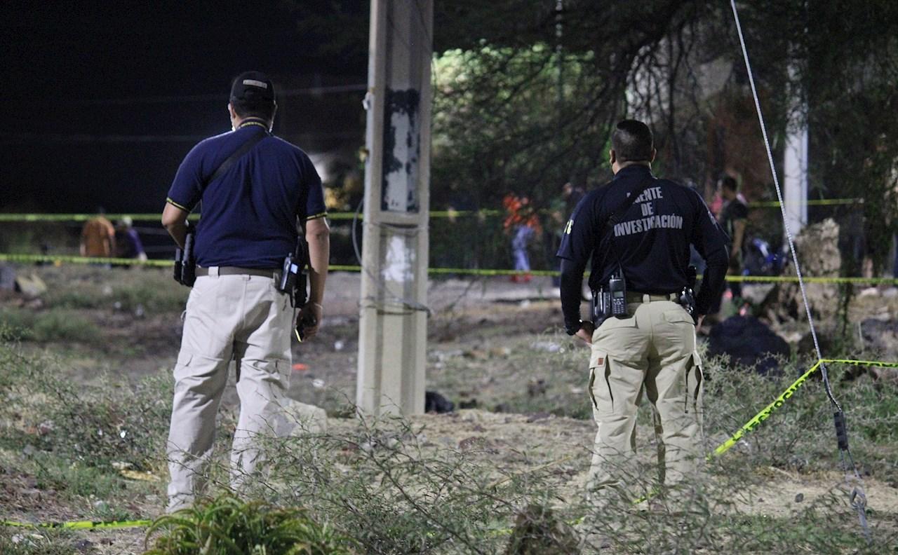 Foto escena del asesinato de la candidata Alma Rosa Barragán