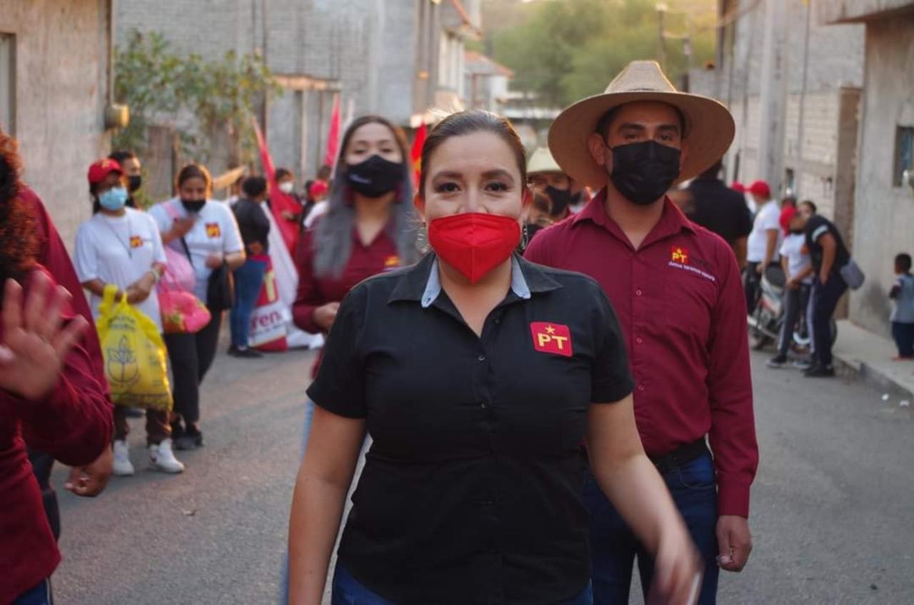 Foto de la candidata atacada en Cuitzeo Michoacán