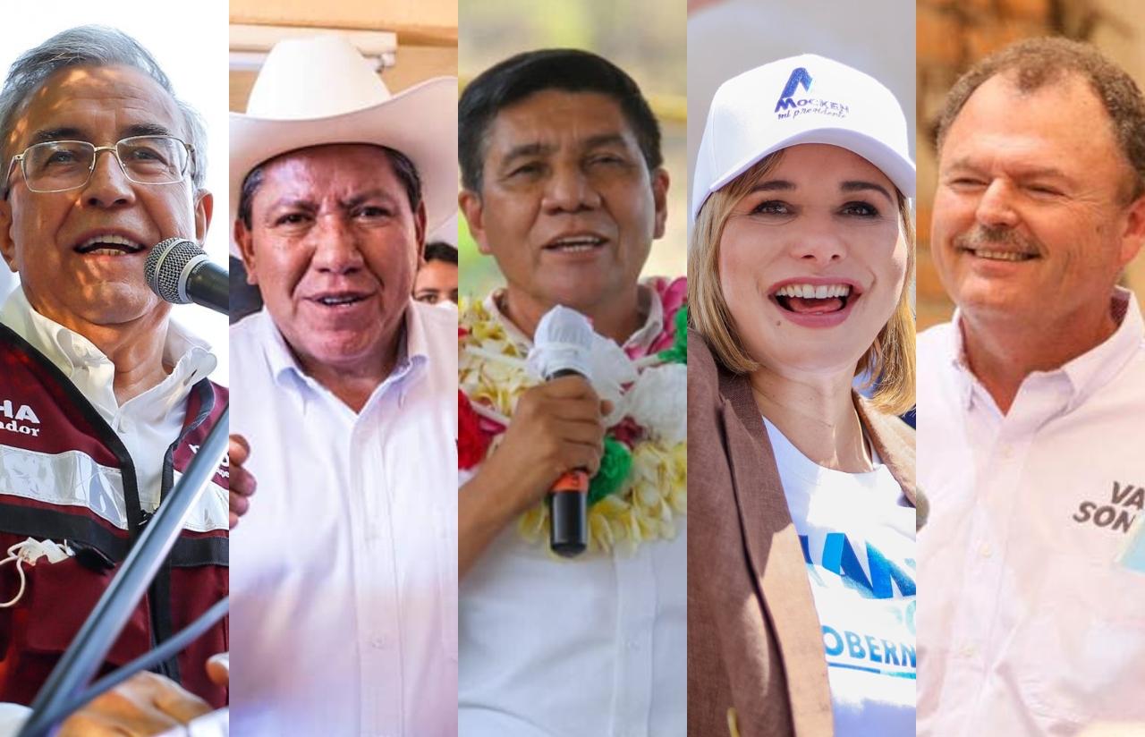 Fotos de los candidatos por los que han declinado