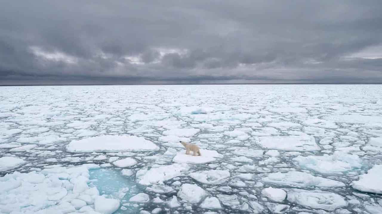 Foto de glaciares derretidos