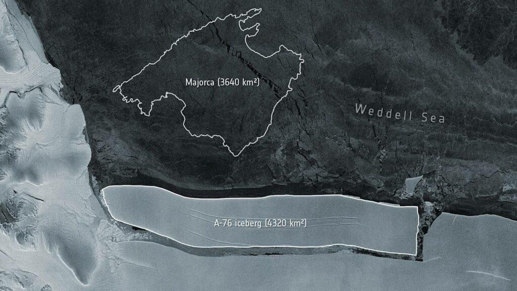 El iceberg más grande del mundo se desprende en la Antártida