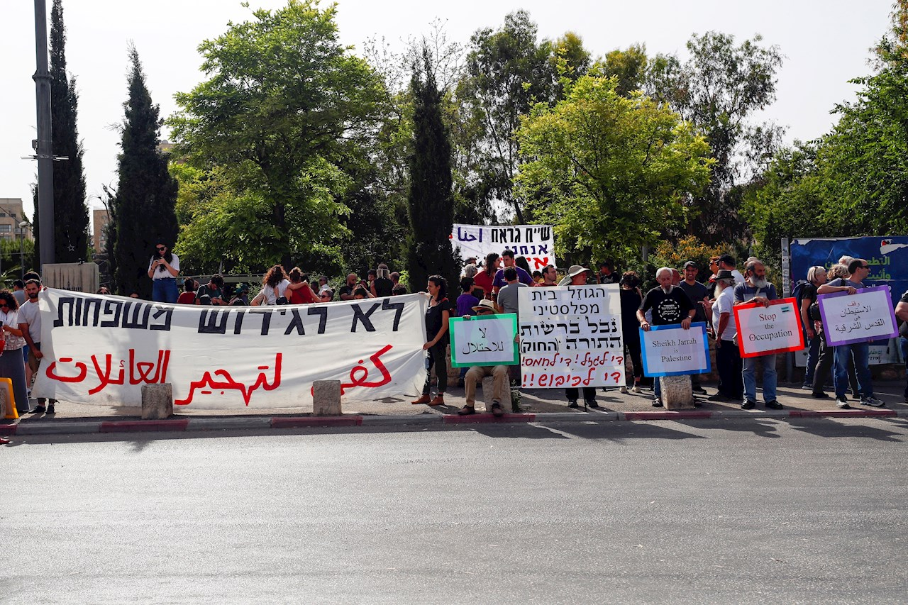 Foto de protesta en favo de Palestina por el conflicto con Israel