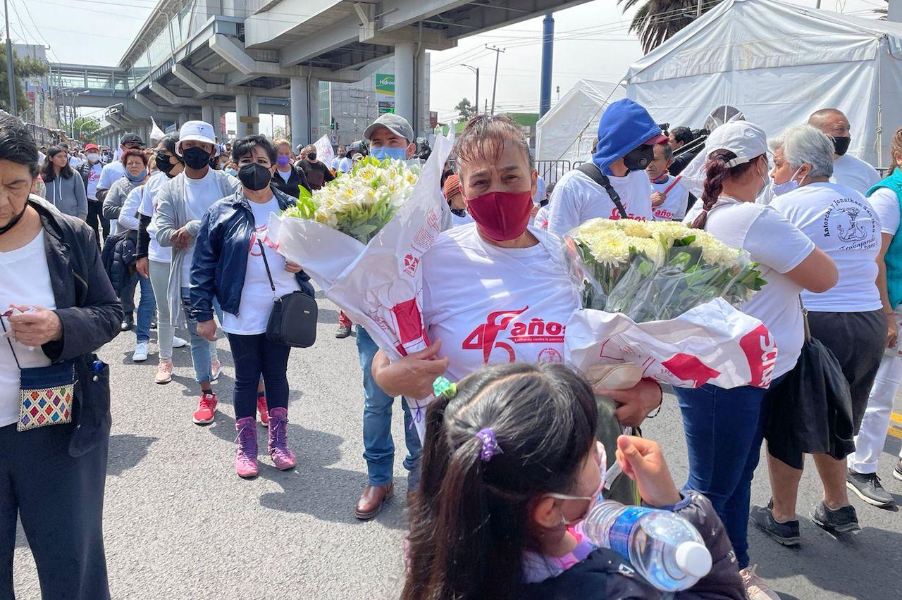 Foto de la marcha por as víctimas de la línea 12