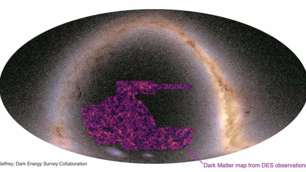 Astrónomos crean el mapa más grande de la materia oscura del universo