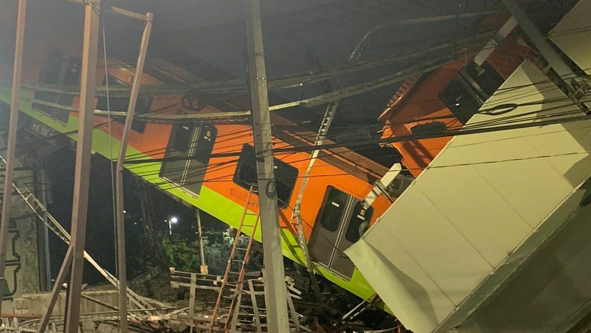 Metro caída