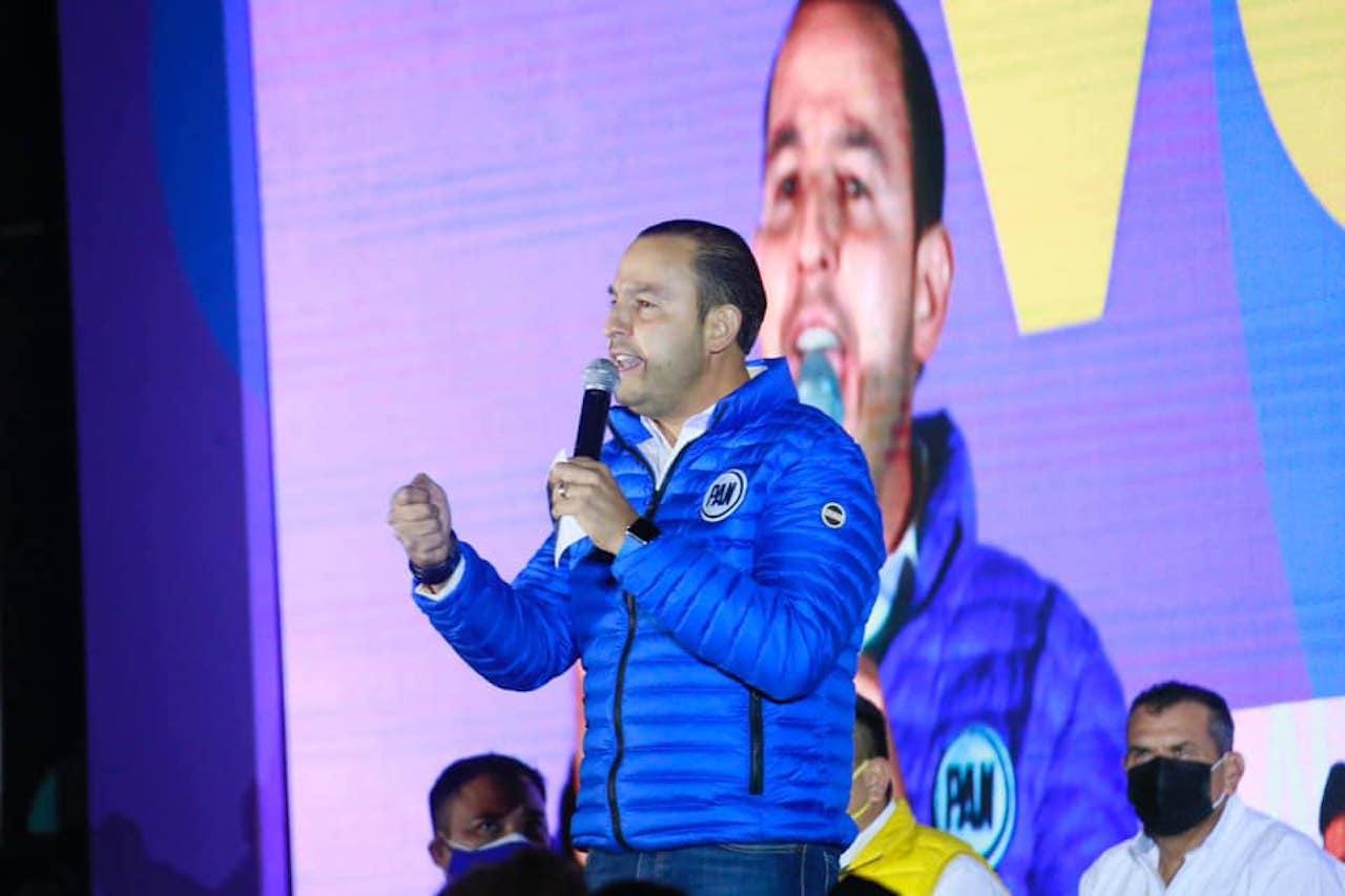 Foto del líder nacional del PAN, Marko Cortés