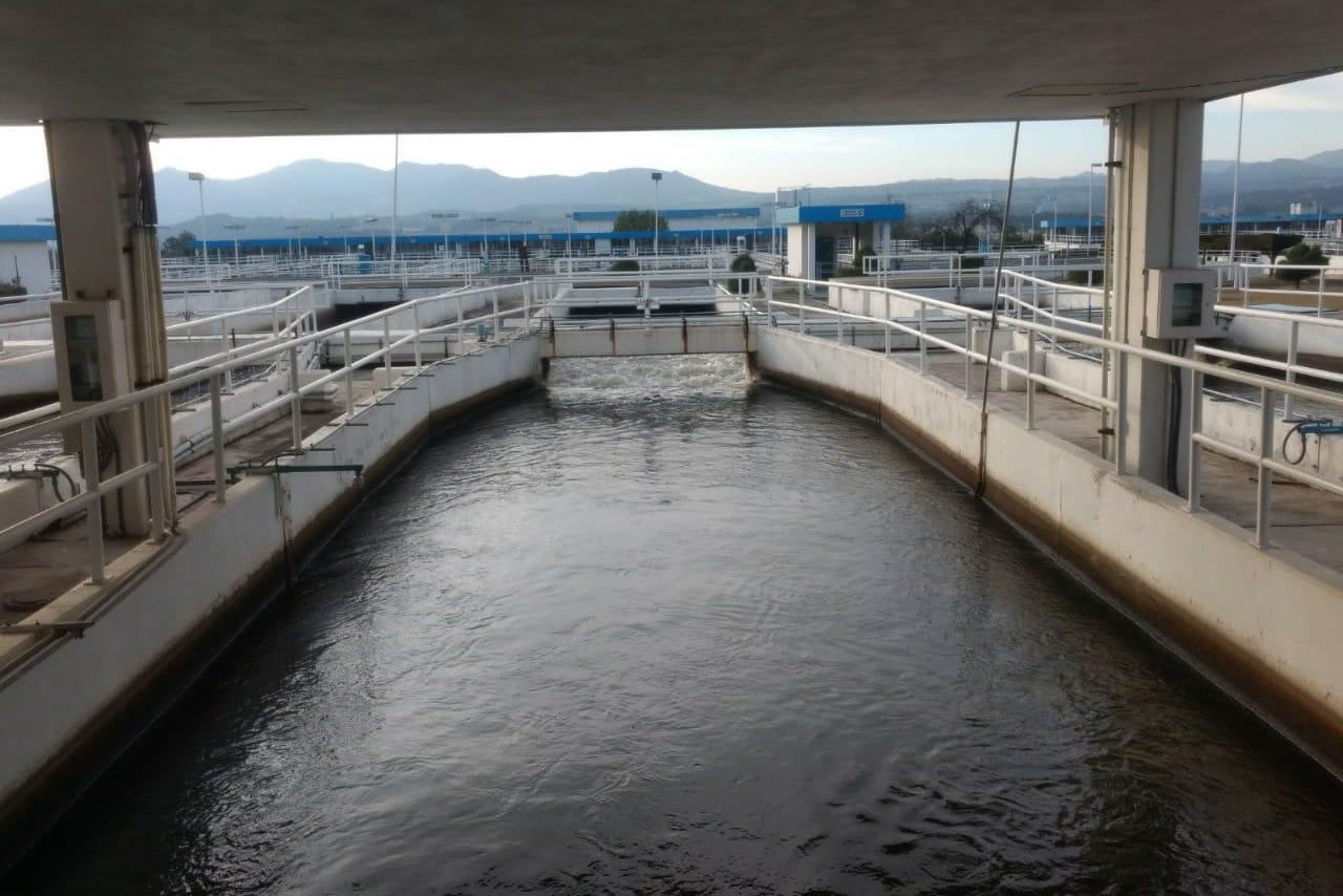 Foto de una planta de bombeo del sistema de agua cutzamala