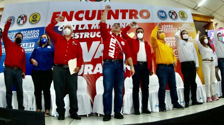 PRI PAN PRD Va por México coalición