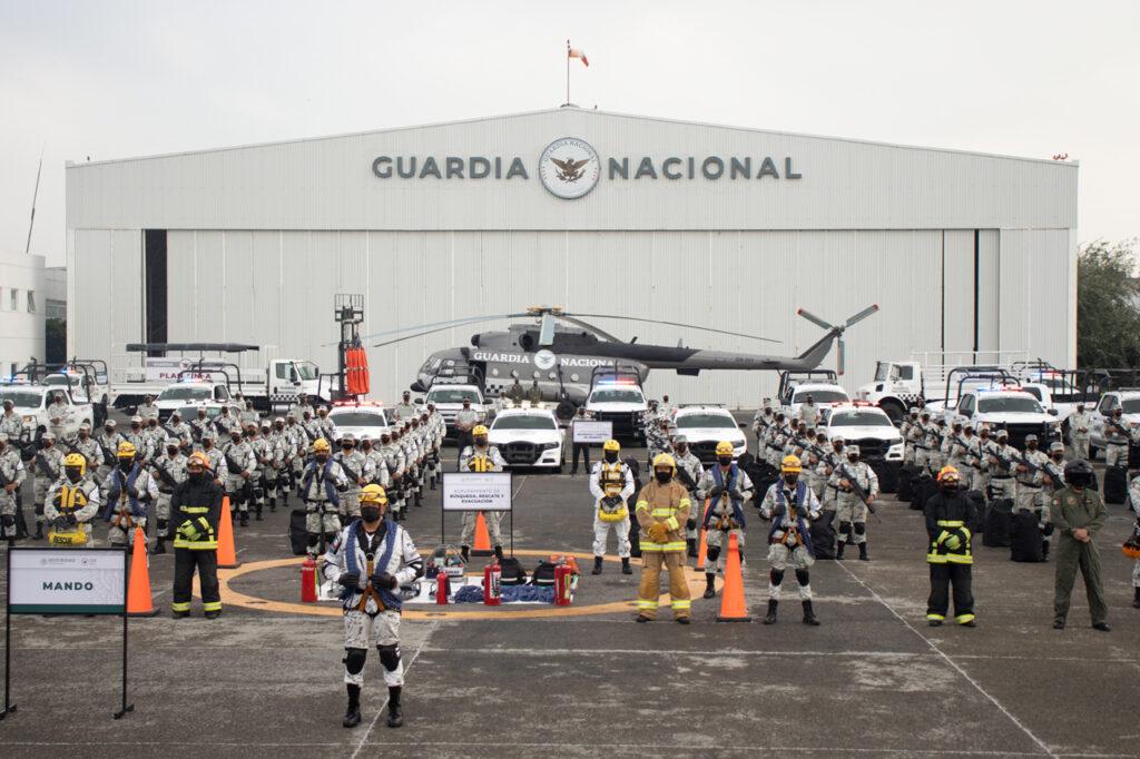 Fotogalería: la Guardia Nacional presenta su unidad de apoyo en desastres