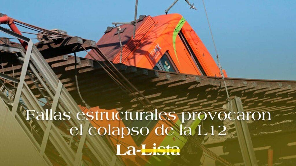Fallas estructurales provocaron el colapso de la L-12, informe por Claudia Sheinbaum
