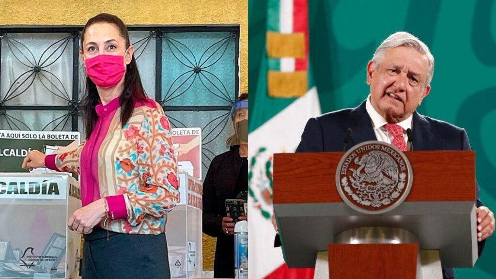Sheinbaum y AMLO acusan que 'campaña de desprestigio' afectó a Morena en CDMX