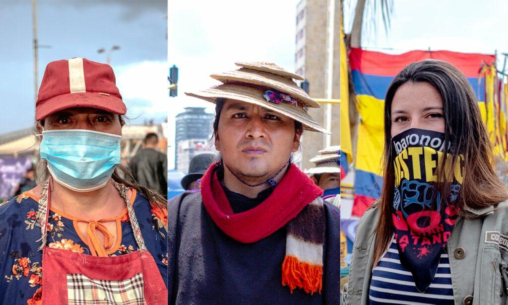 'Esto es una revolución': los rostros de las protestas de Colombia