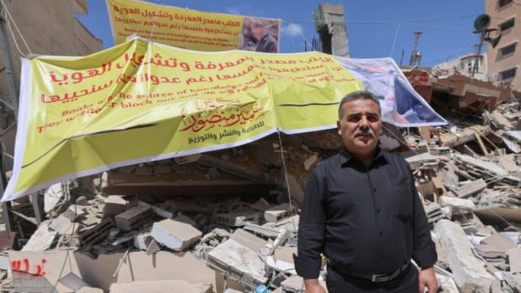Hay grandes donaciones para restaurar una librería de Gaza destruida por ataques aéreos israelíes