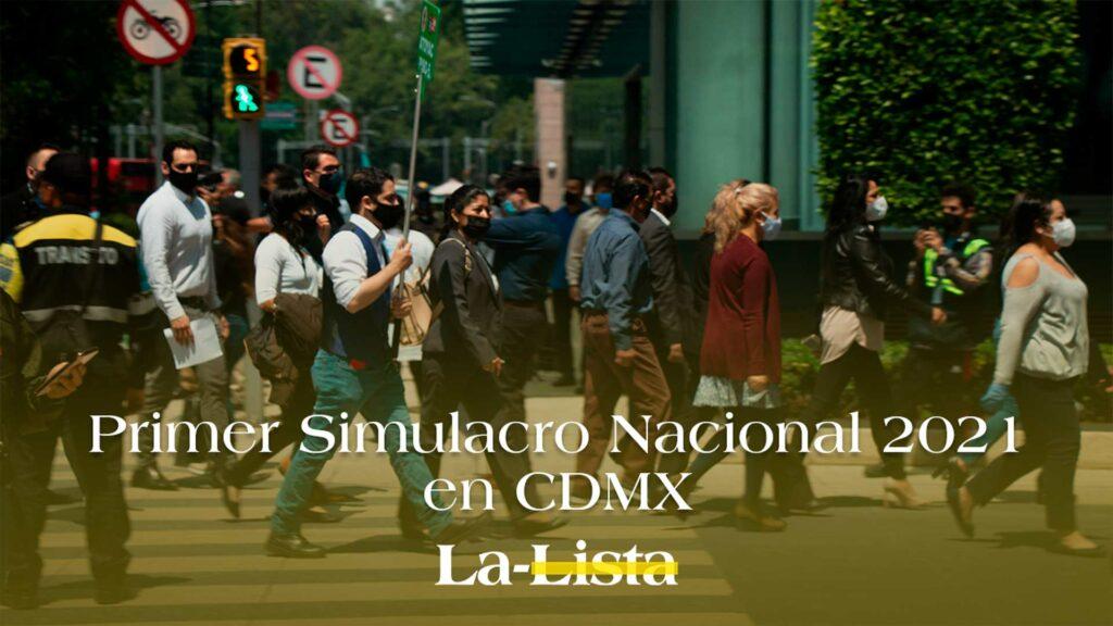 Primer Simulacro Nacional 2021 en CDMX