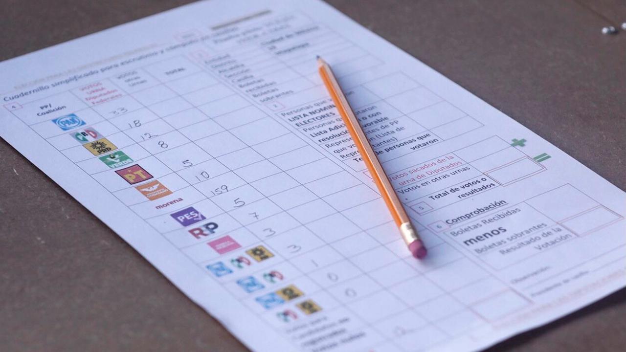 voto, votacion, elecciones, elecciones 2021, eleccion, INE, boletas, CONTEO DE VOTOS, PARTIDOS POLITICOS