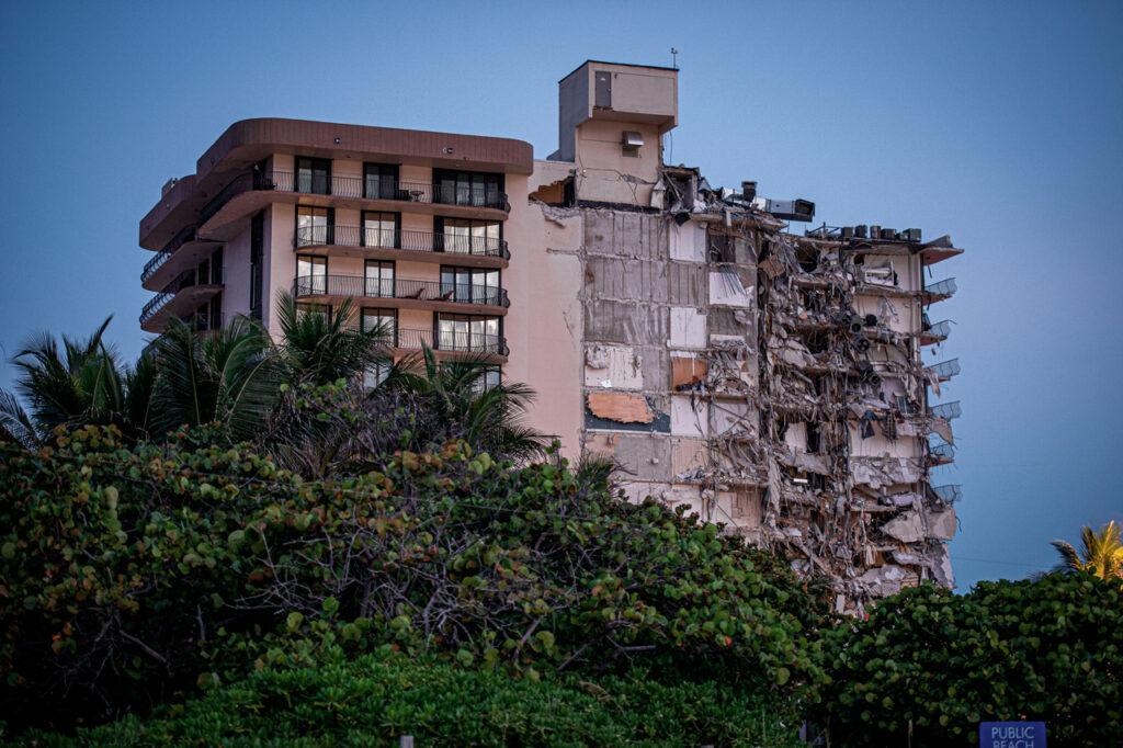 El edificio colapsado en Miami estaba en obras y se había hundido ligeramente
