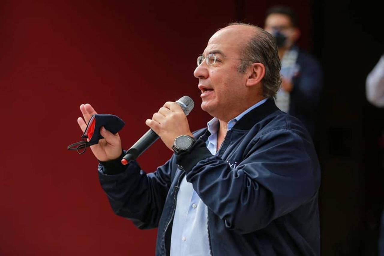 Foto de Felipe Calderón quien se contagió de covid 19