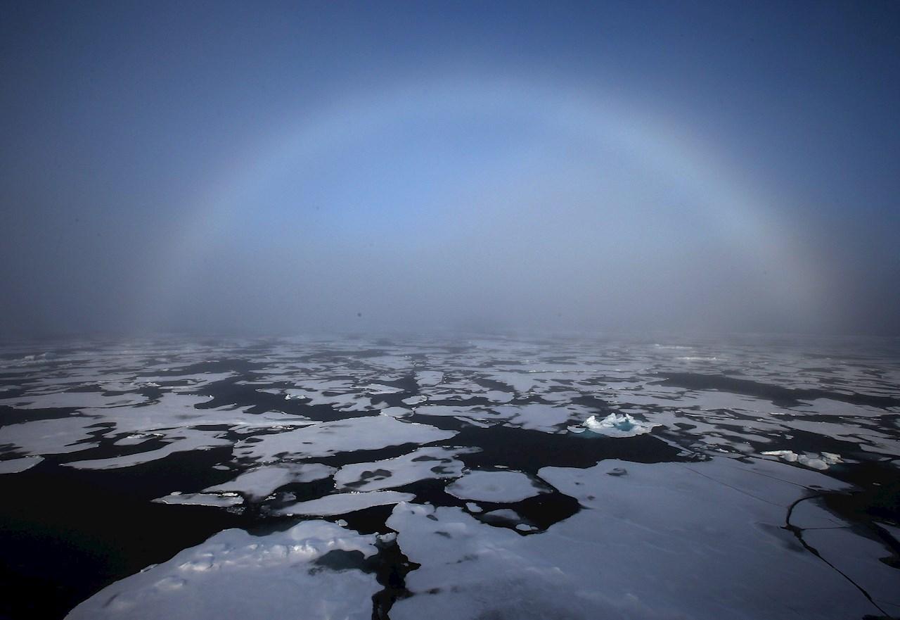 Foto cambio climático en el Polo Norte