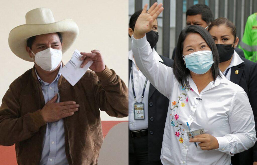 La elección de Perú se cierra a menos de un punto entre Fujimori y Castillo