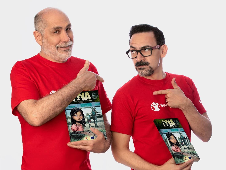Guillermo Arriaga y Humberto Ramos