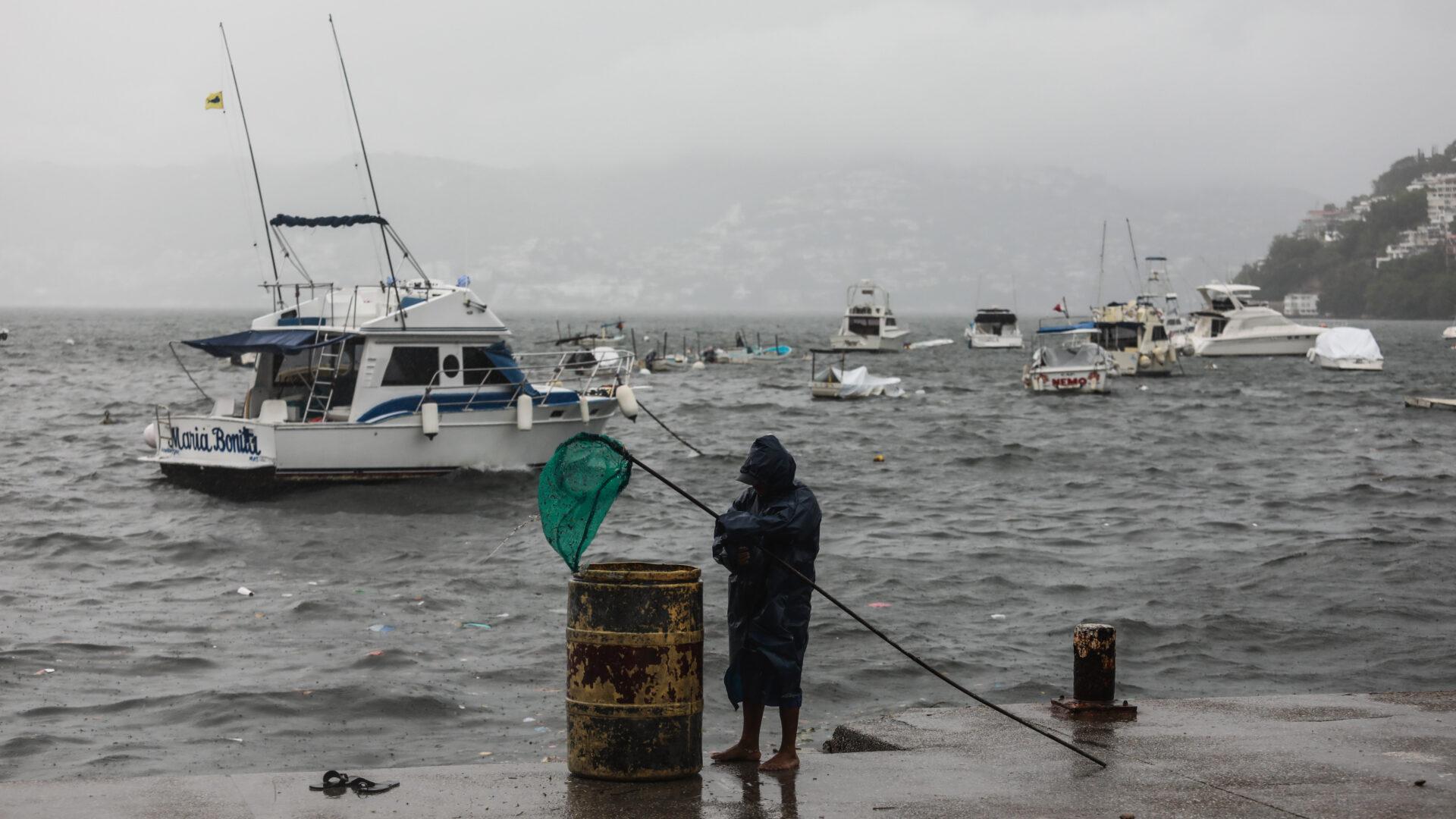 Foto de uan costa para ilustrar el huracán 'Enrique'