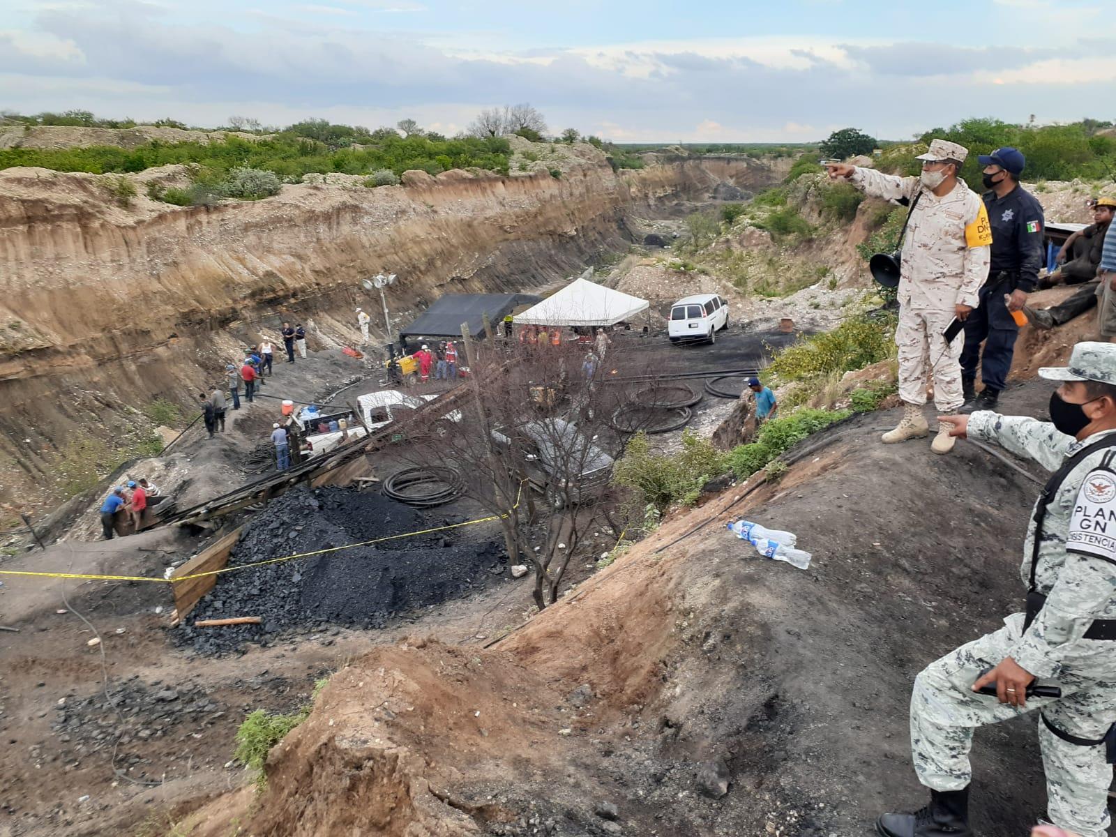 Mina colapsada en Coahuila