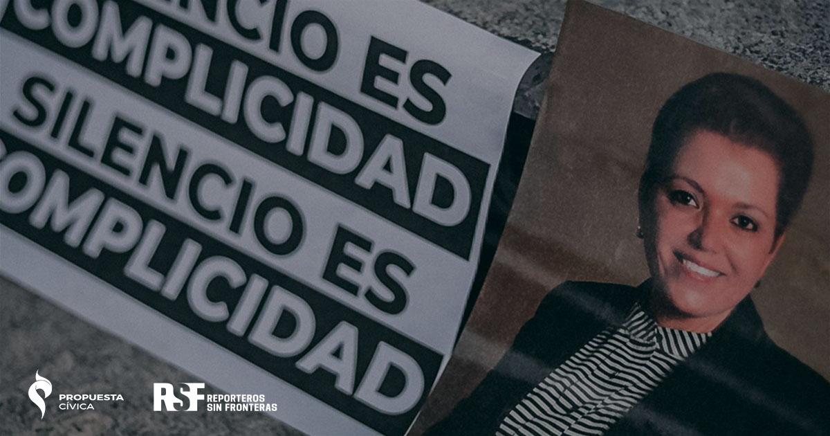 Foto de protesta por el asesinato de Miroslava Breach