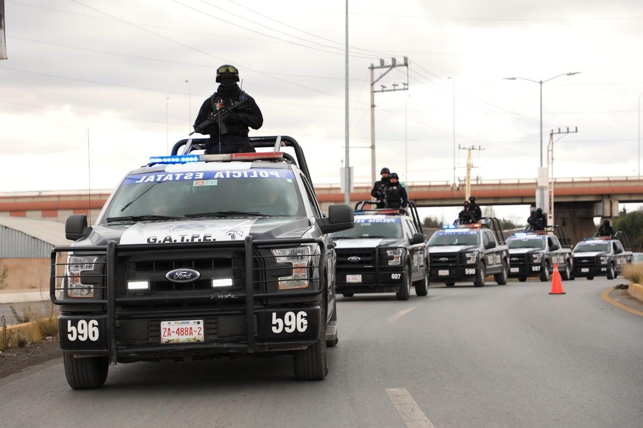 Foto de policías en Zacatecas