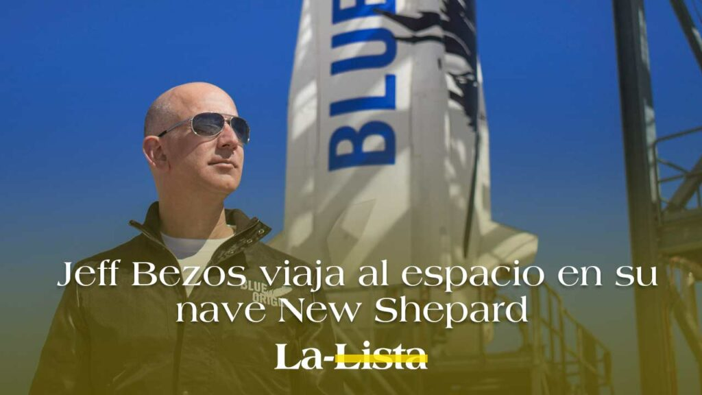 Jeff Bezos viaja al espacio en su nave New Shepard