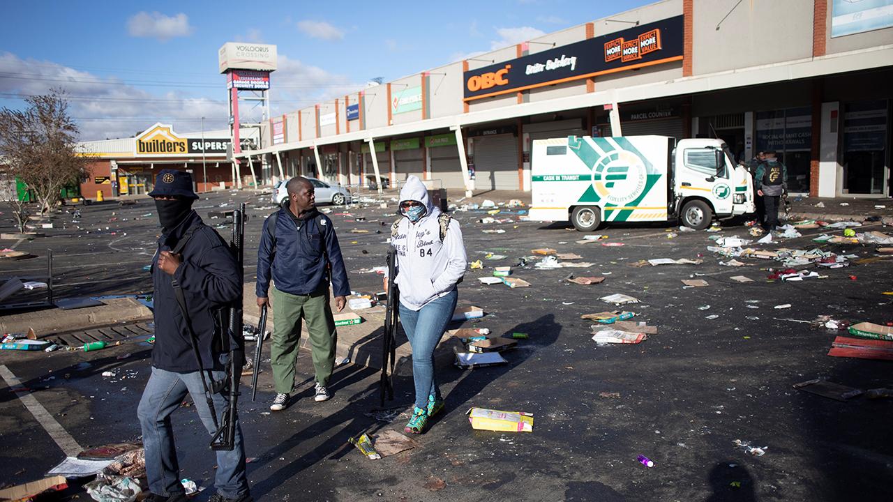 disturbios en Sudáfrica