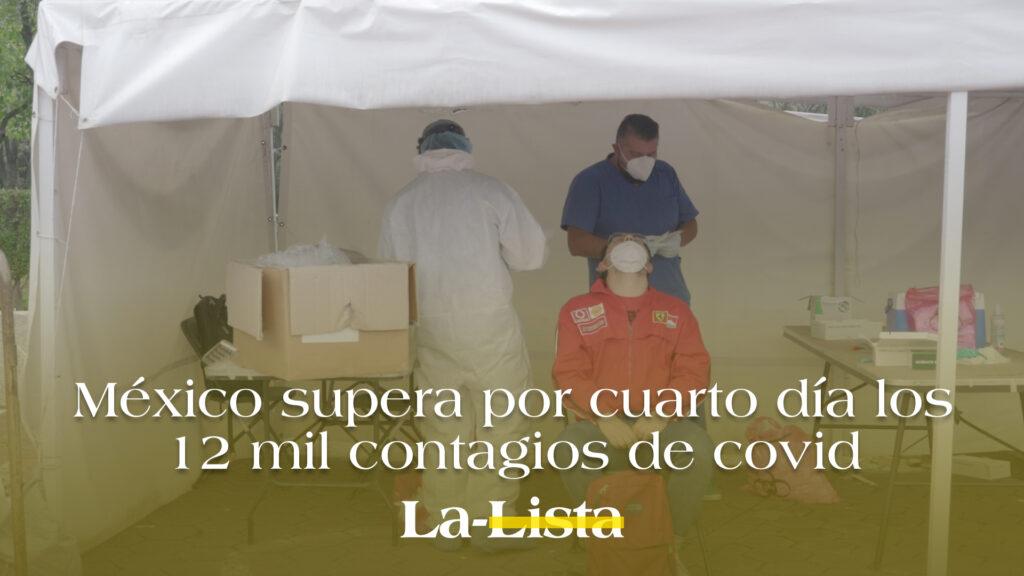 México supera por cuarto día los 12 mil contagios de Covid