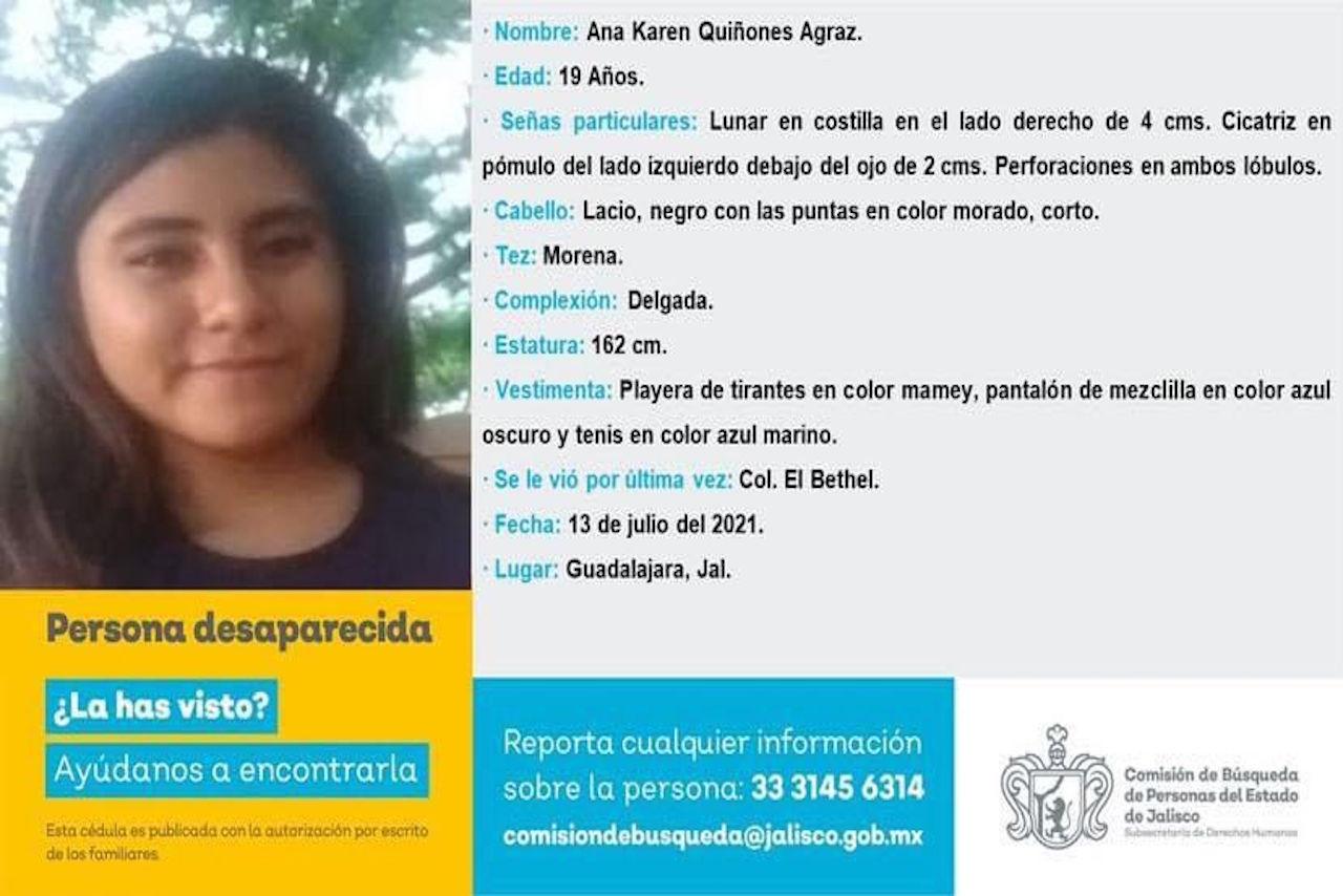 Ana Karen estudiante desaparecida