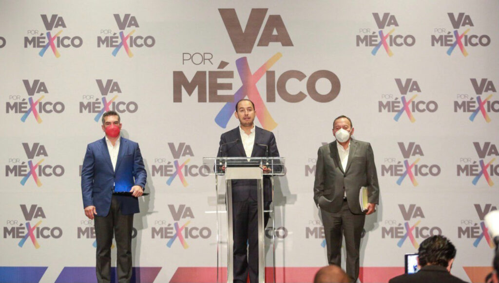 """""""Va por México"""" exige anular la elección en SLP, Michoacán, Guerrero y Campeche"""