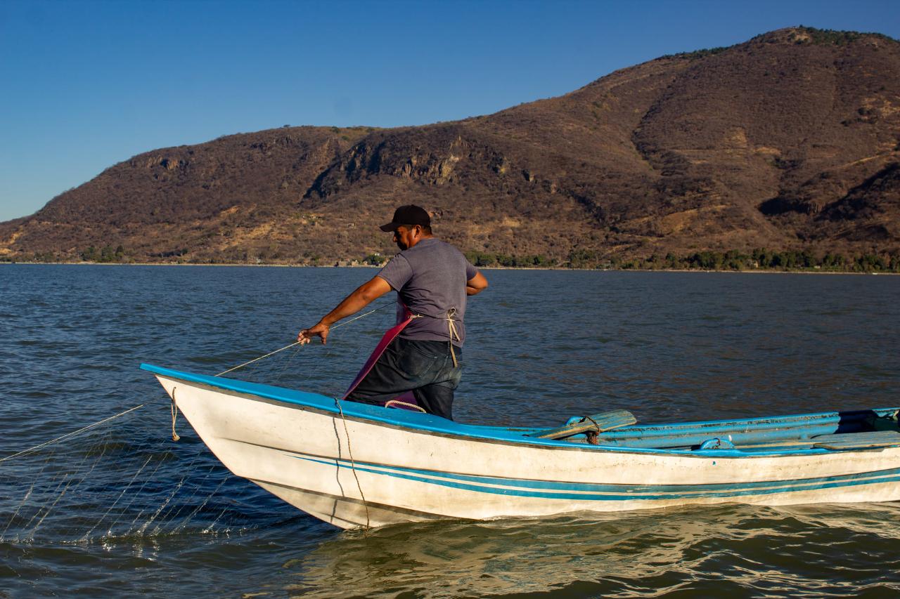 Foto de un pescador