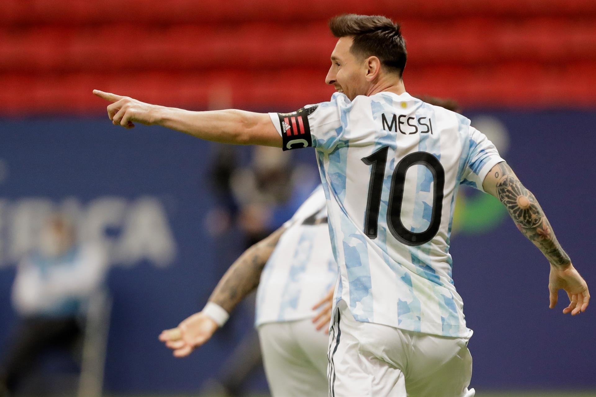 Lionel Messi en la Copa América