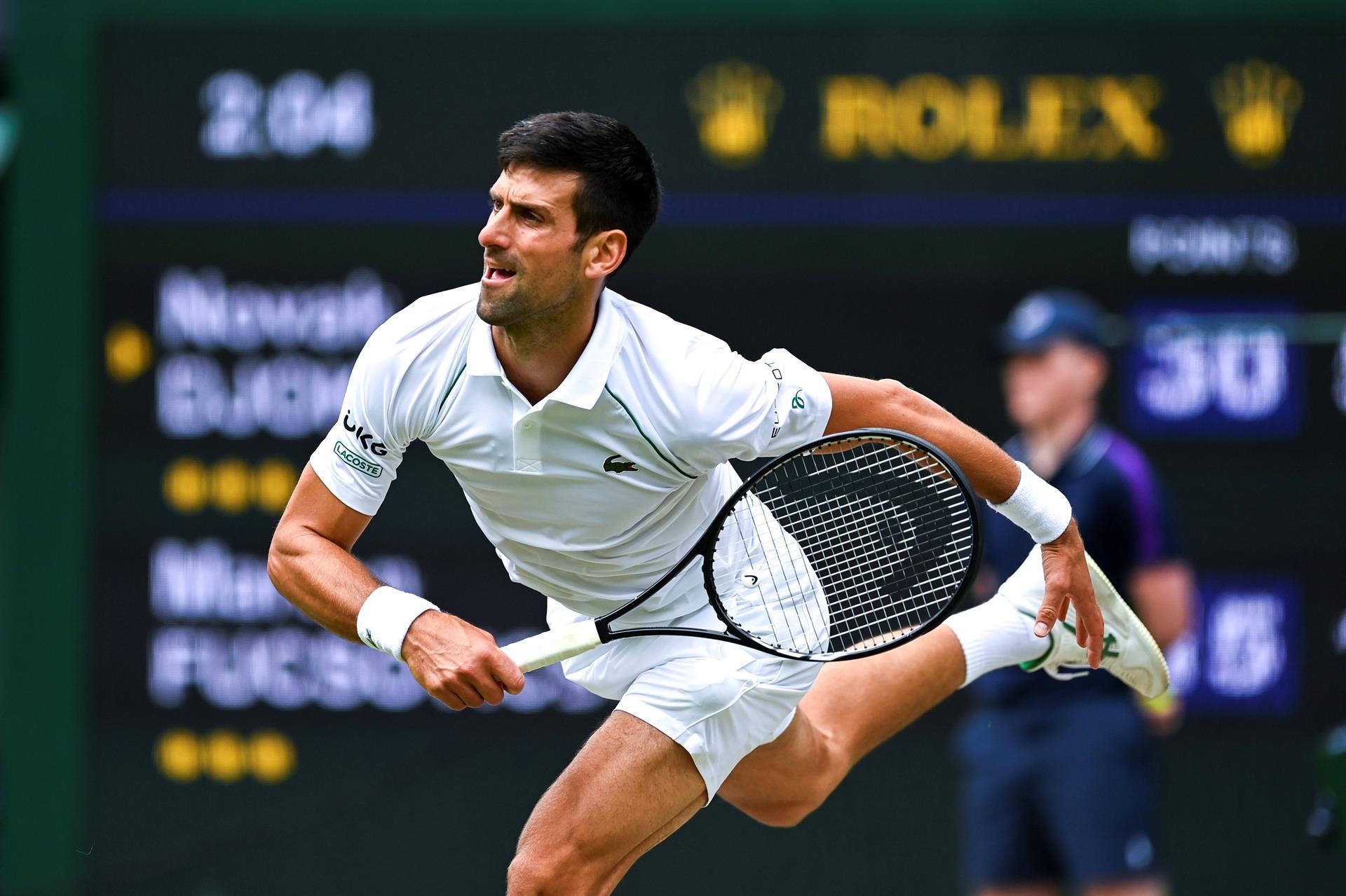 El deportista Novak Djokovic