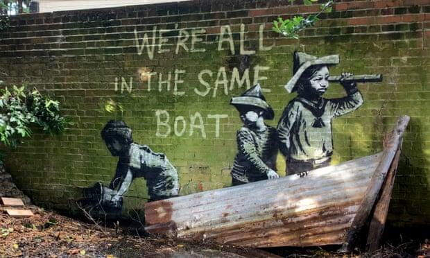 Aparece posible arte callejero de Banksy en pueblos costeros ingleses