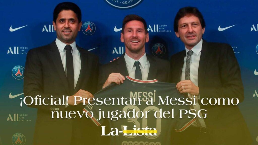 ¡Oficial! Presentan a Messi como nuevo jugador del PSG.